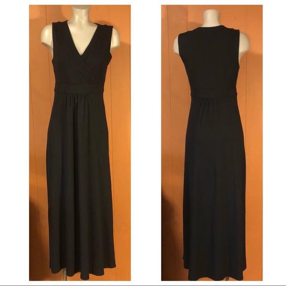 e4926238889 Lands  End Dresses   Skirts - Lands End Black Sleeveless Knit Maxi Dress